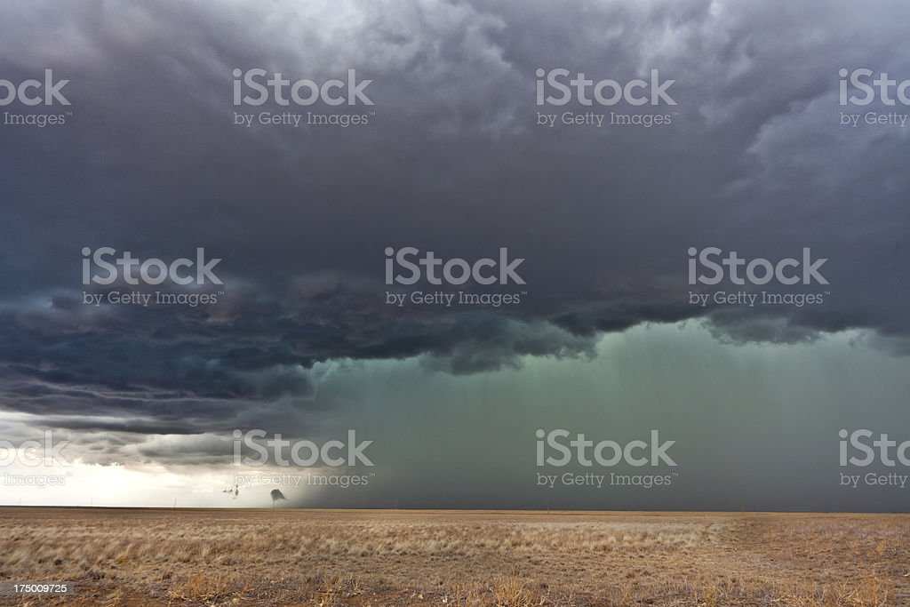 Tornadic supercell in the American plains royalty-free stock photo