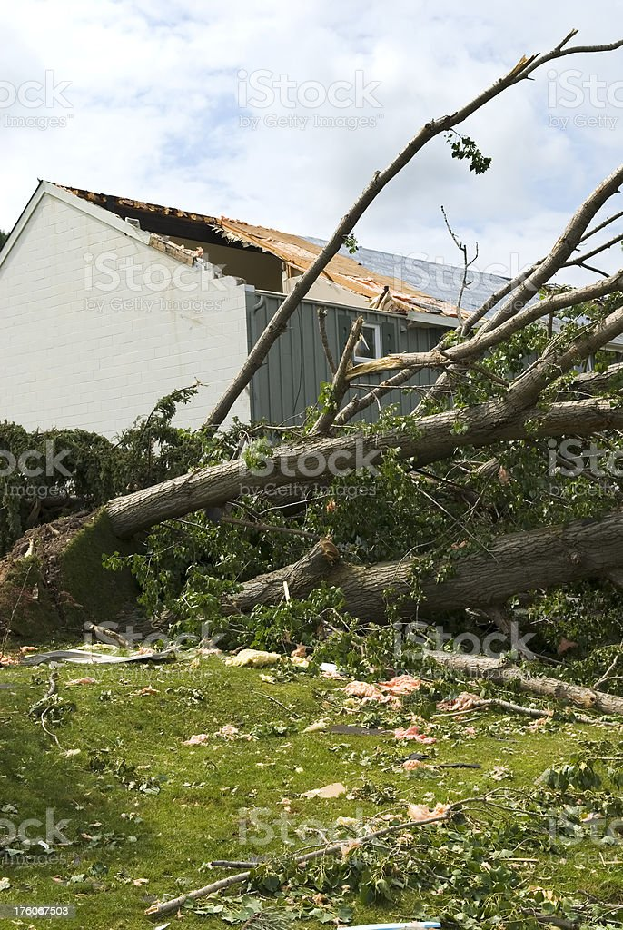 Tornado aftermath & destruction forces of nature - IV royalty-free stock photo