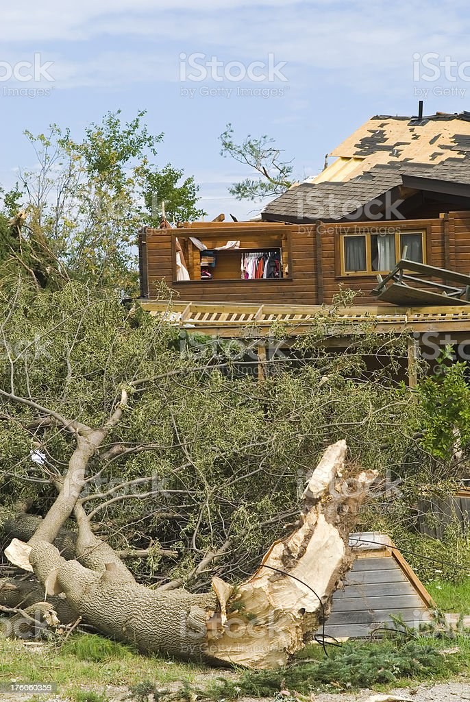 Tornado aftermath & destruction forces of nature - VIII royalty-free stock photo