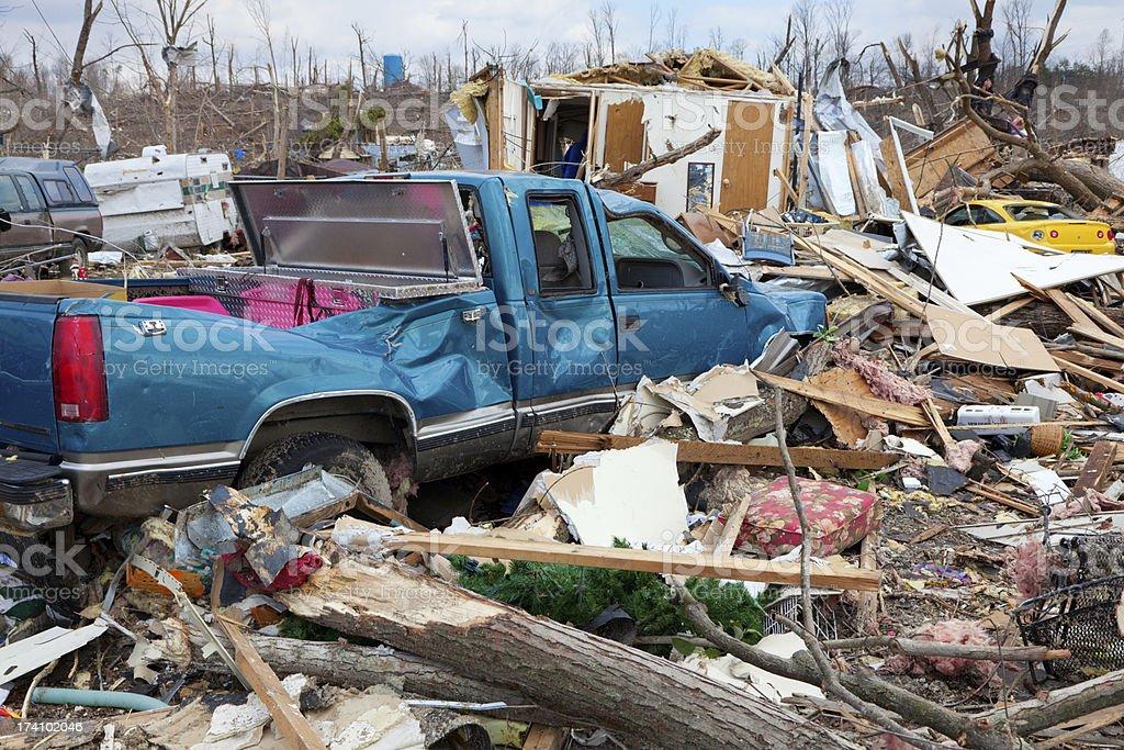 Tornado aftermath stock photo