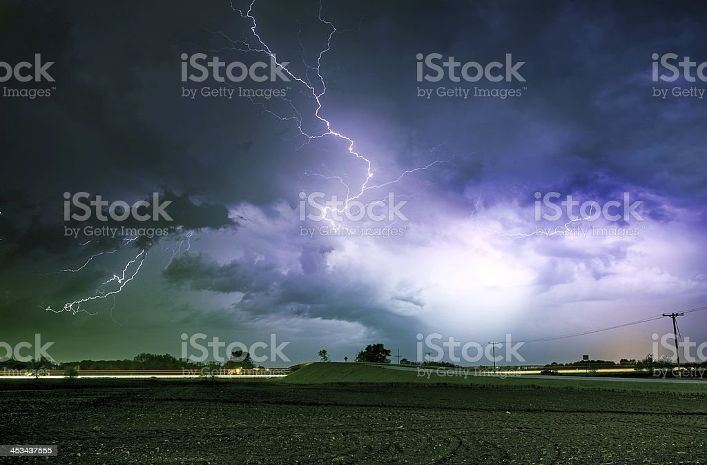 Tornado Alley Severe Storm stock photo
