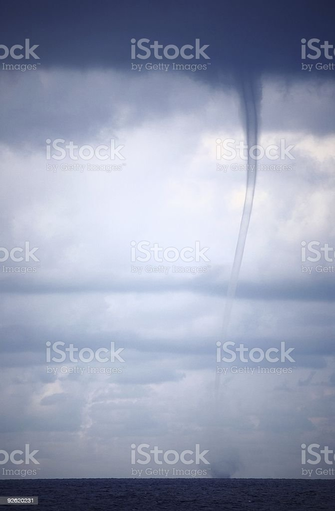 Tornado and storm clouds royalty-free stock photo