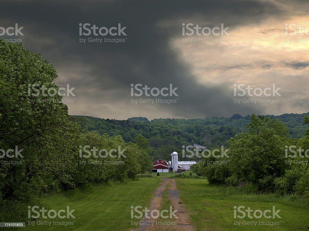 tornado approaching royalty-free stock photo