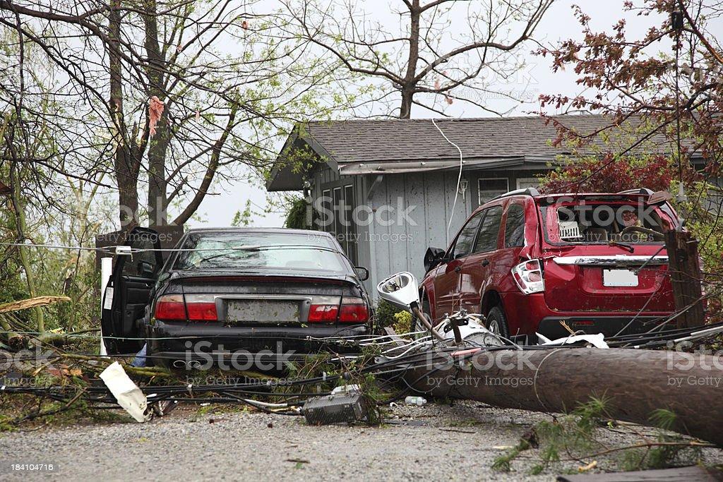 Tornado Damage royalty-free stock photo