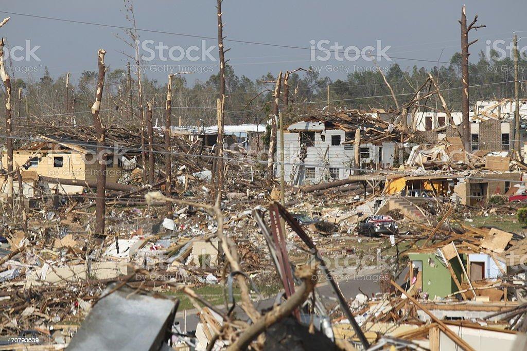 Tornado damage stock photo