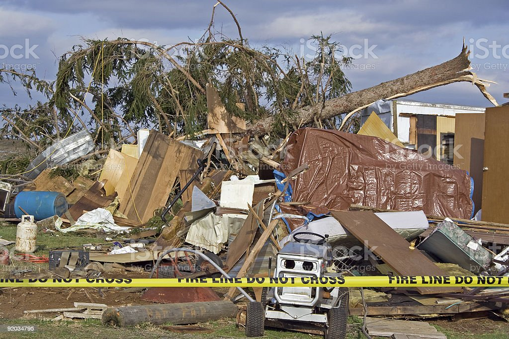 Tornado Damage royalty-free stock photo