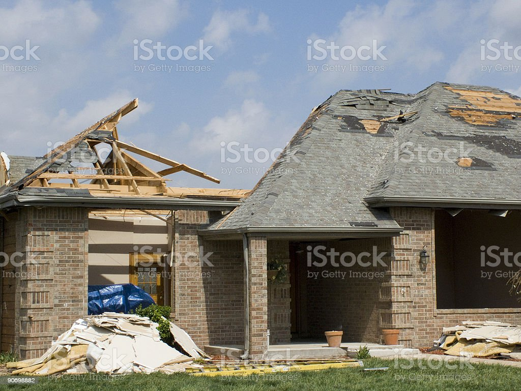 Tornado Damaged Home-Nixa, Missouri royalty-free stock photo