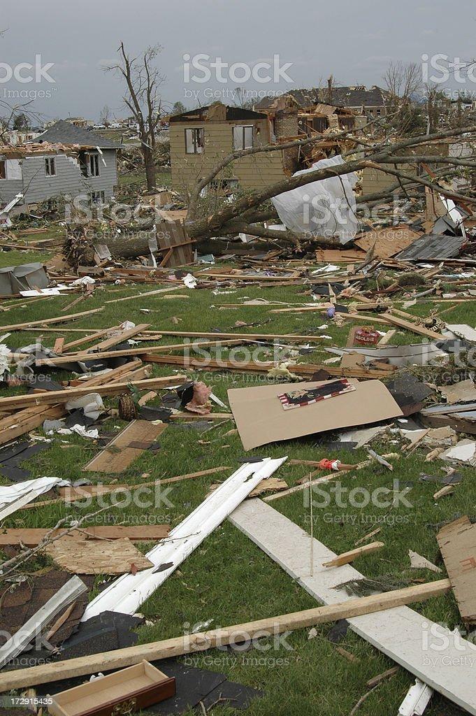Tornado Destroys Homes stock photo