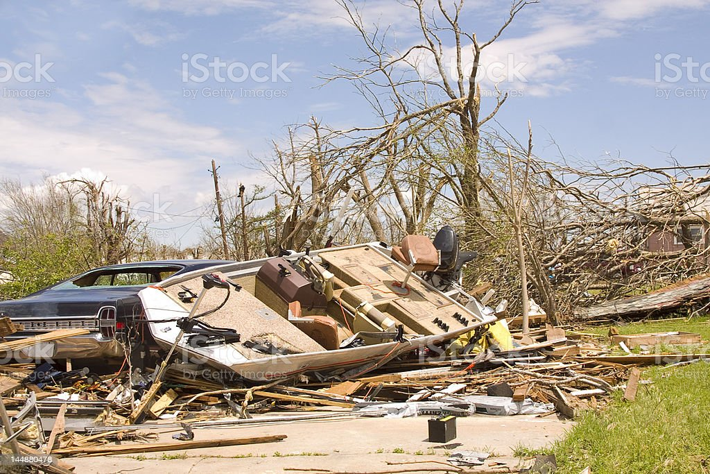 Tornado Destruction royalty-free stock photo