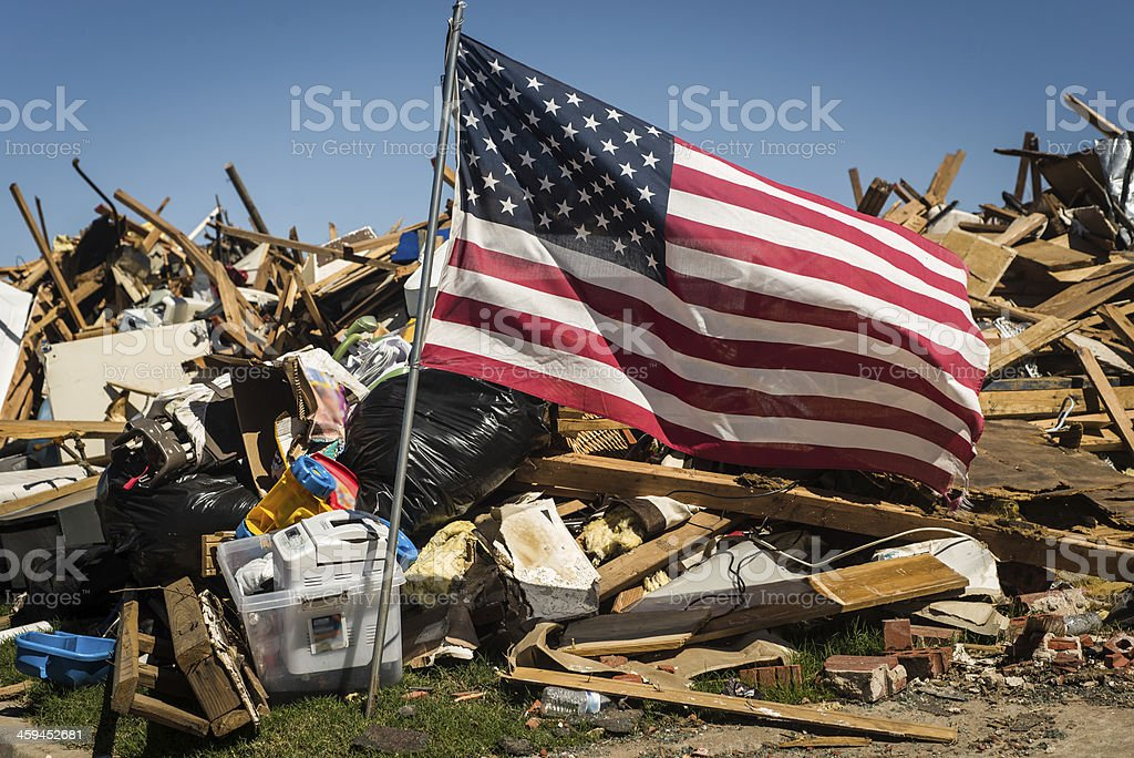 Tornado Destruction royalty-free stock photo