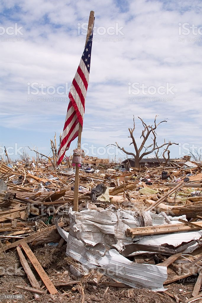 Tornado Devastation royalty-free stock photo
