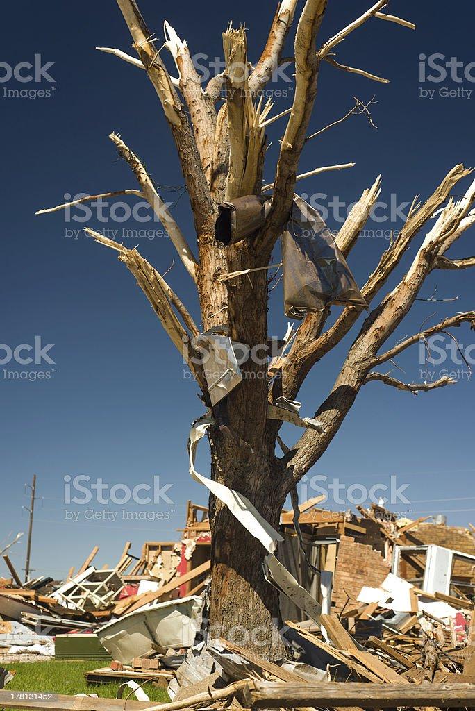 Tornado Devastation royalty-free stock photo