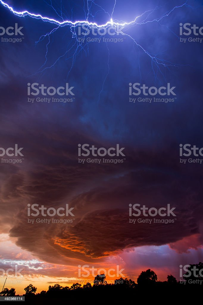 Tornado formation stock photo