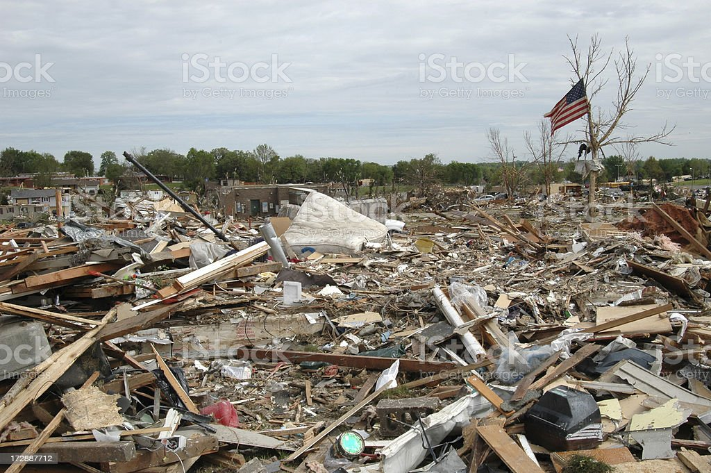 Tornado Landscape royalty-free stock photo