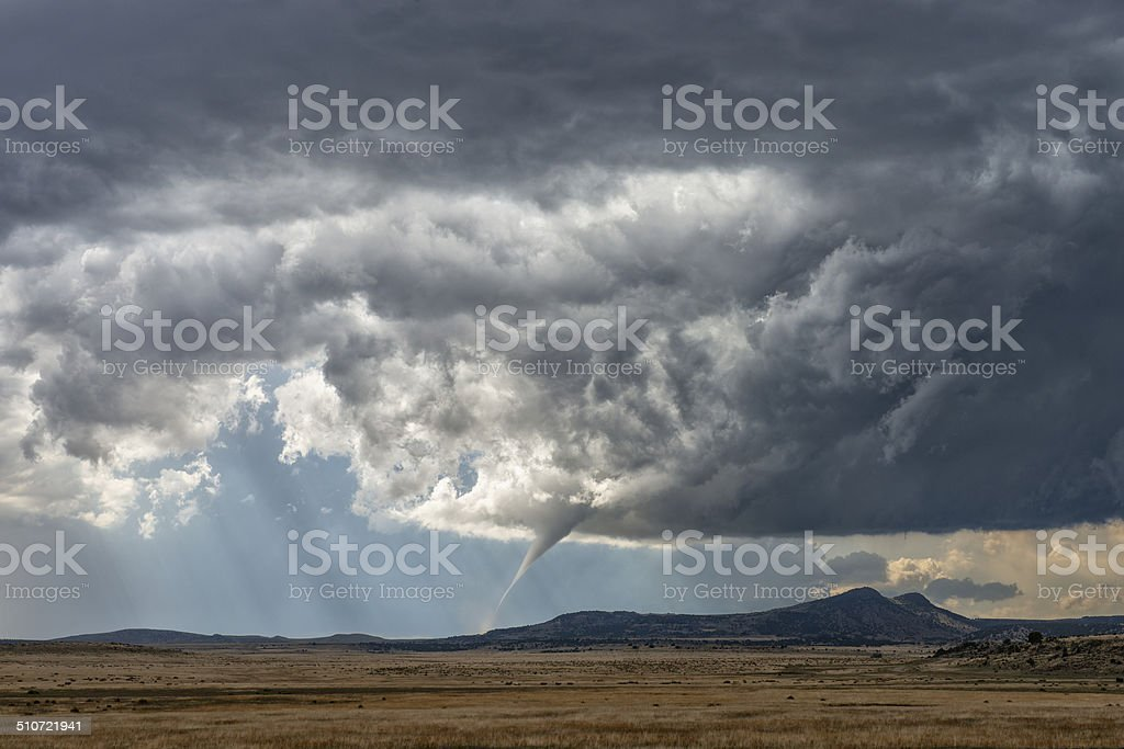 Tornado on the Great Plains of the USA stock photo