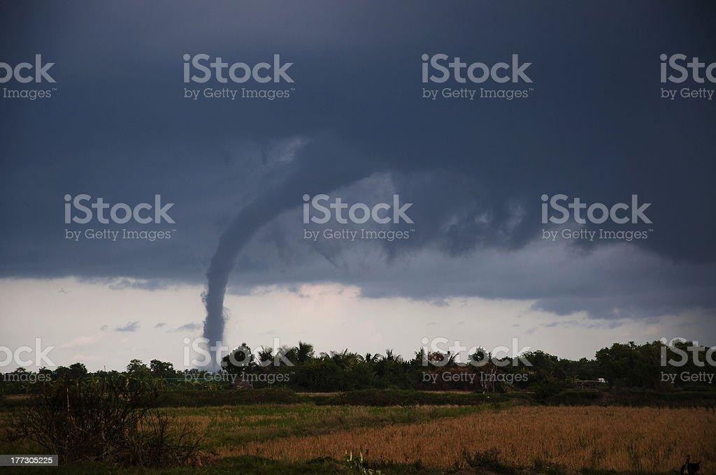 Tornado on the plains stock photo
