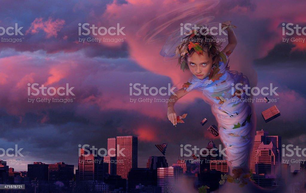 Tornado royalty-free stock photo