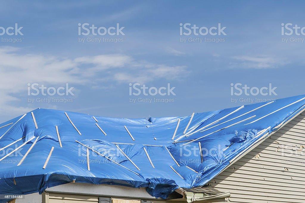 Tornado recovery stock photo