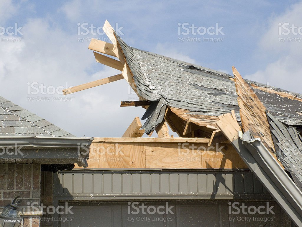 Tornado Removed the Roof royalty-free stock photo