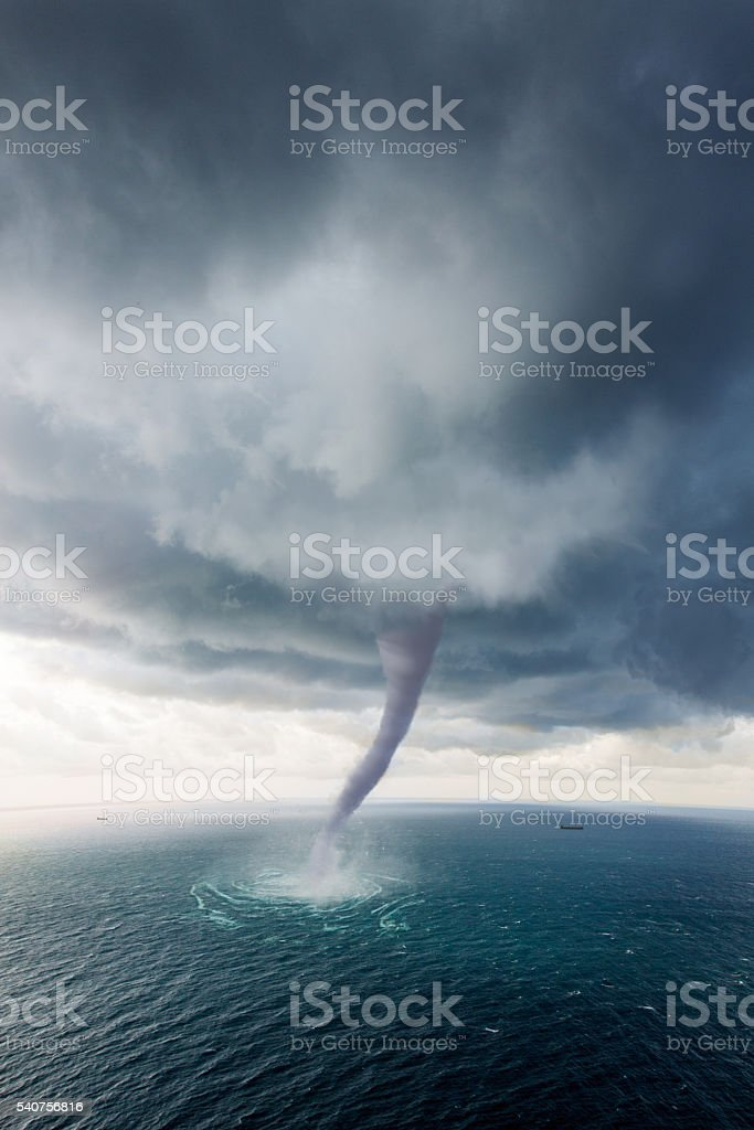 Tornado Sea stock photo