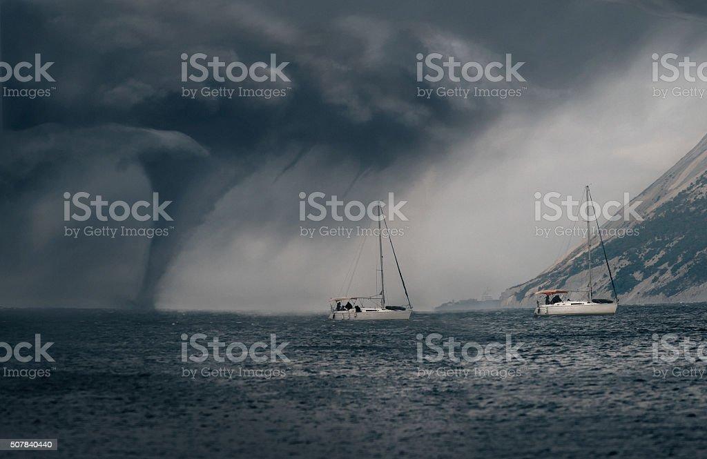 Tornado Seacoast stock photo