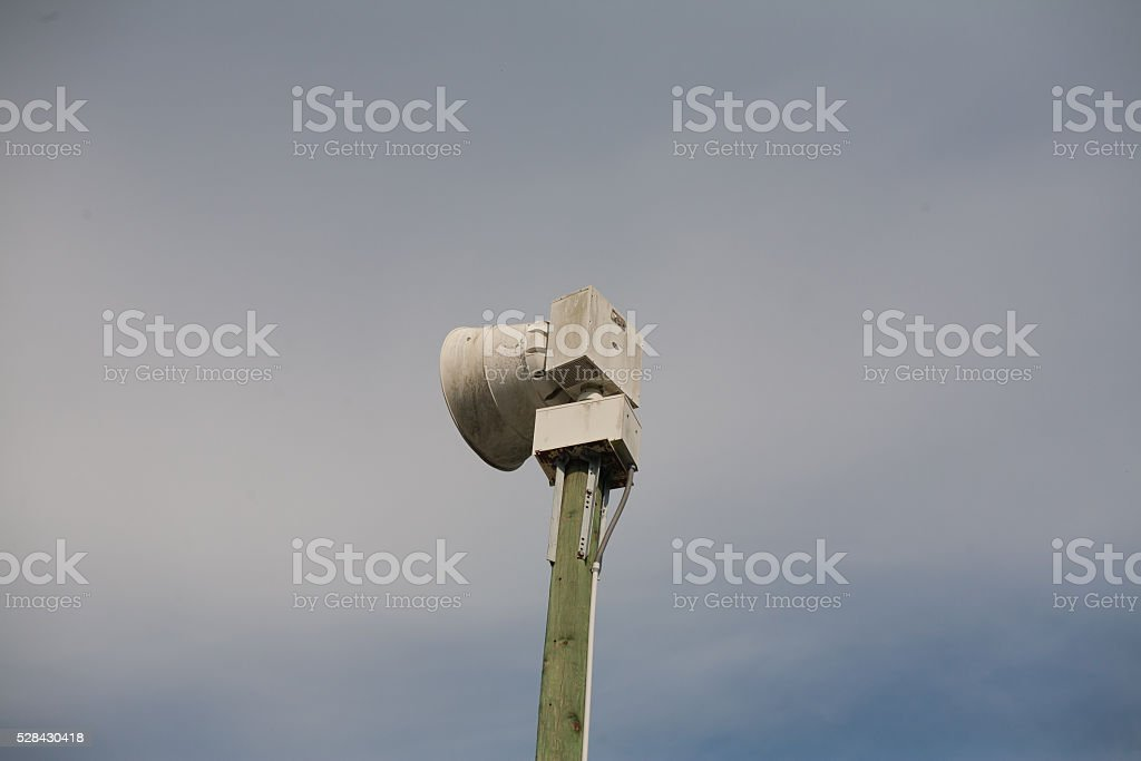 Tornado Siren stock photo