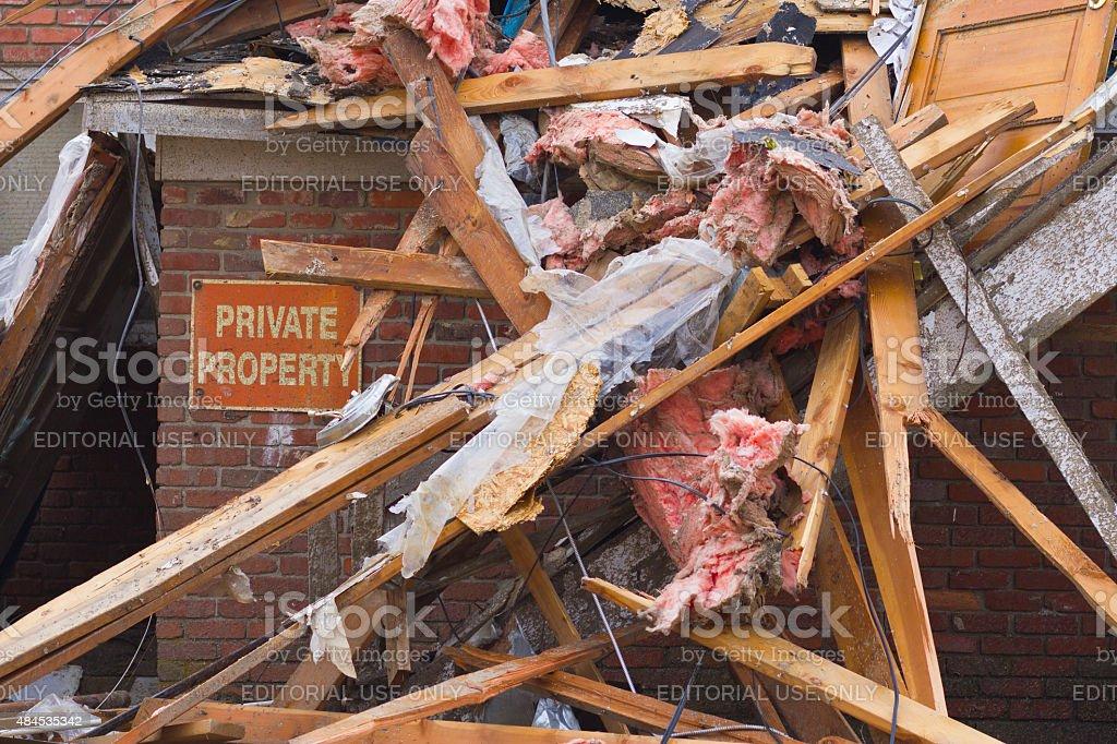 Kokomo, États-Unis, 26 novembre 2013: Tornade des dommages causés par la tempête III photo libre de droits