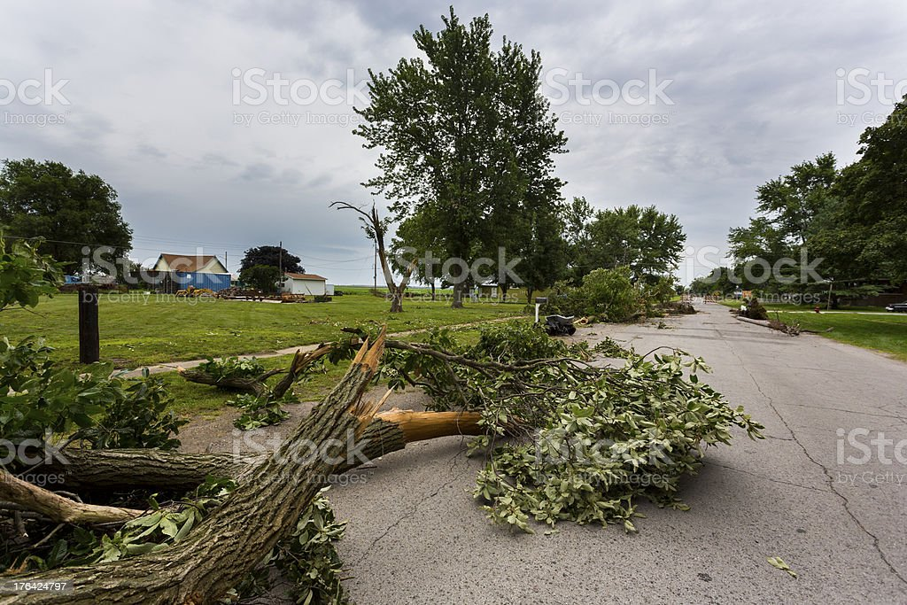 Tornado Storm Damage royalty-free stock photo