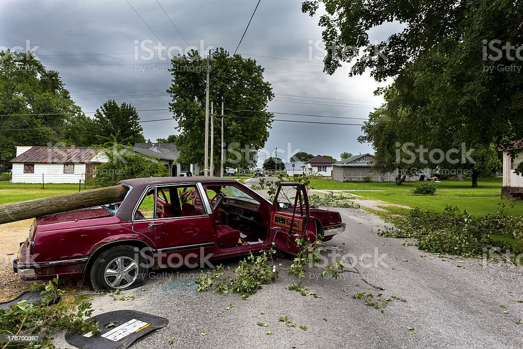 Tornado Storm Damage royalty-free stock photo