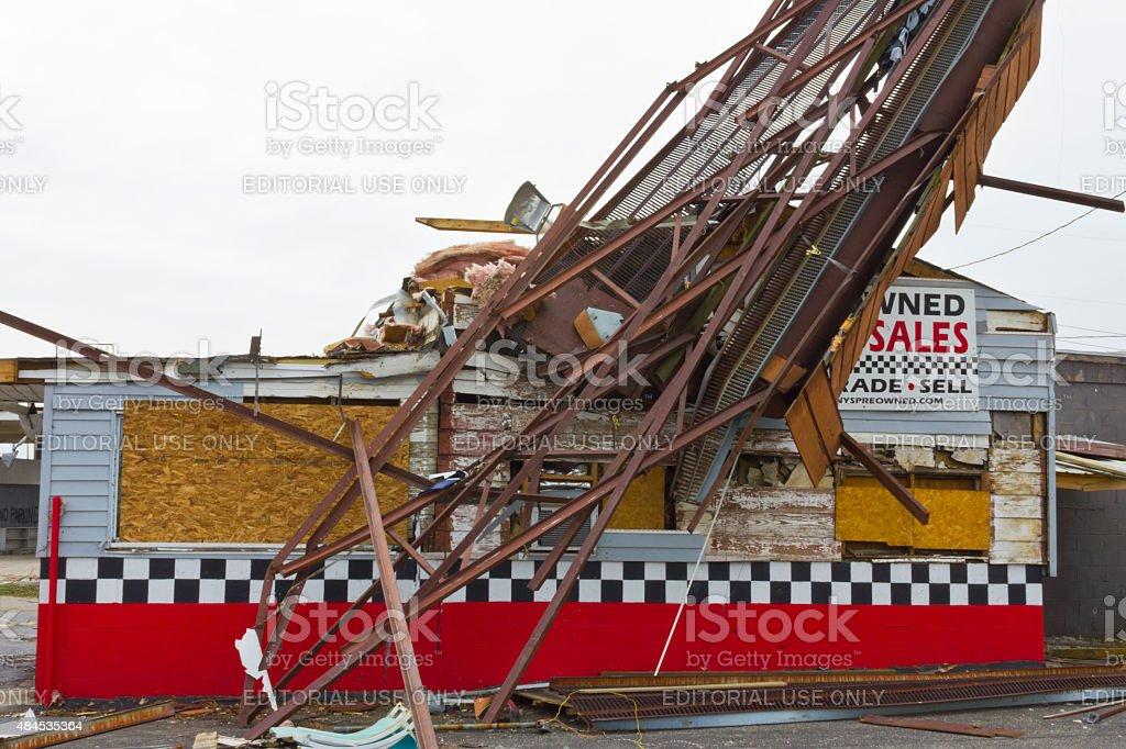 Kokomo, États-Unis, 26 novembre 2013: Tornade des dommages causés par la tempête VIII photo libre de droits