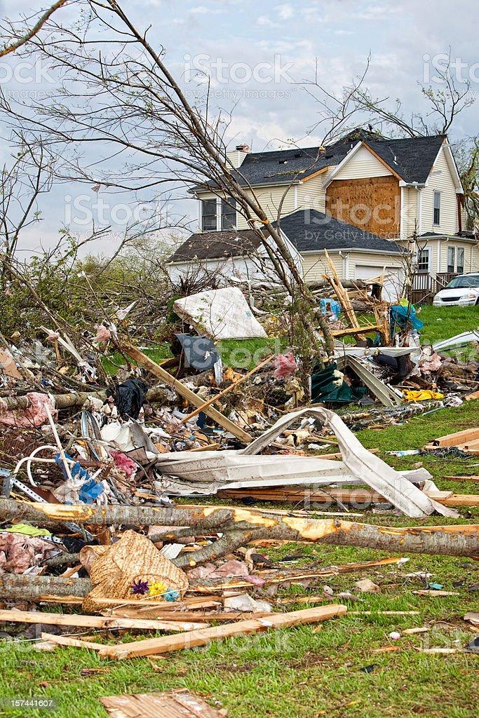 Tornado Victims royalty-free stock photo