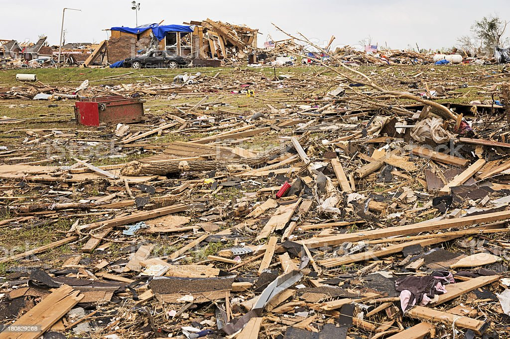 Tornado wreckage royalty-free stock photo