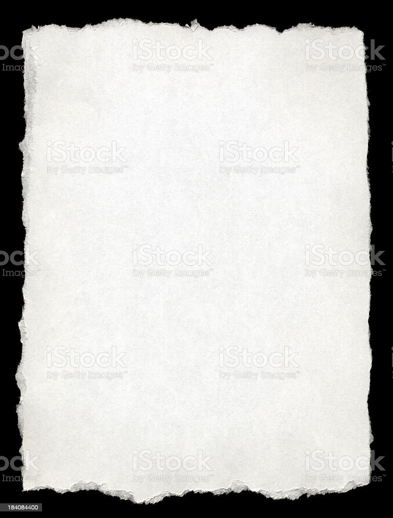 Torn-edged White Paper stock photo