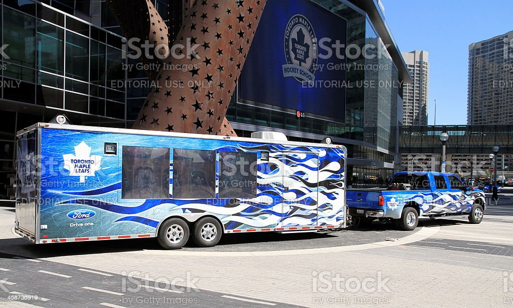 Tornto Maple Leafs Trailer stock photo
