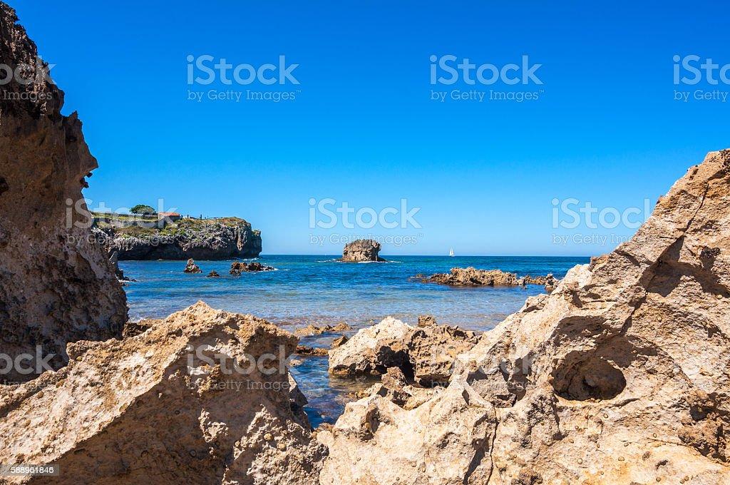 Toro Beach, Llanes, Asturias, Spain stock photo
