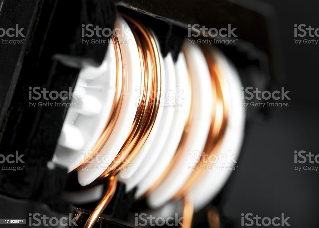 Toroidal inductor stock photo