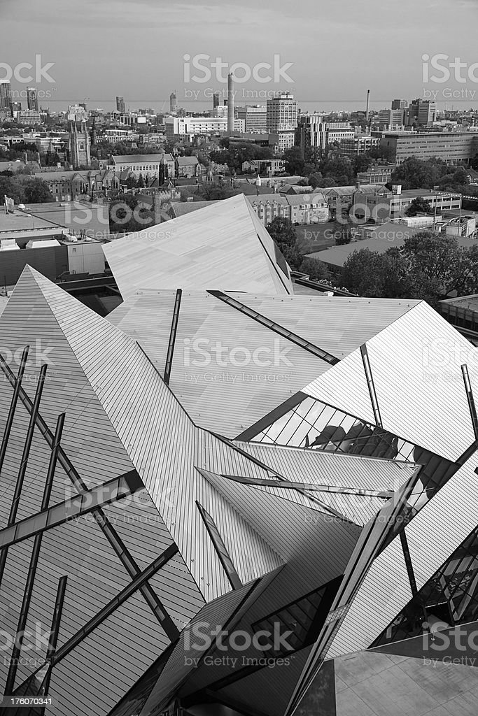 Toronto Abstract Building from Above stock photo