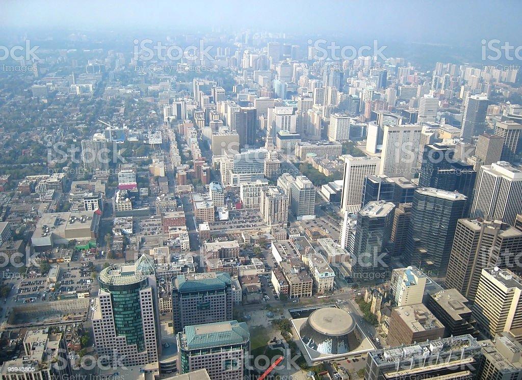 Toronto aerial view royalty-free stock photo