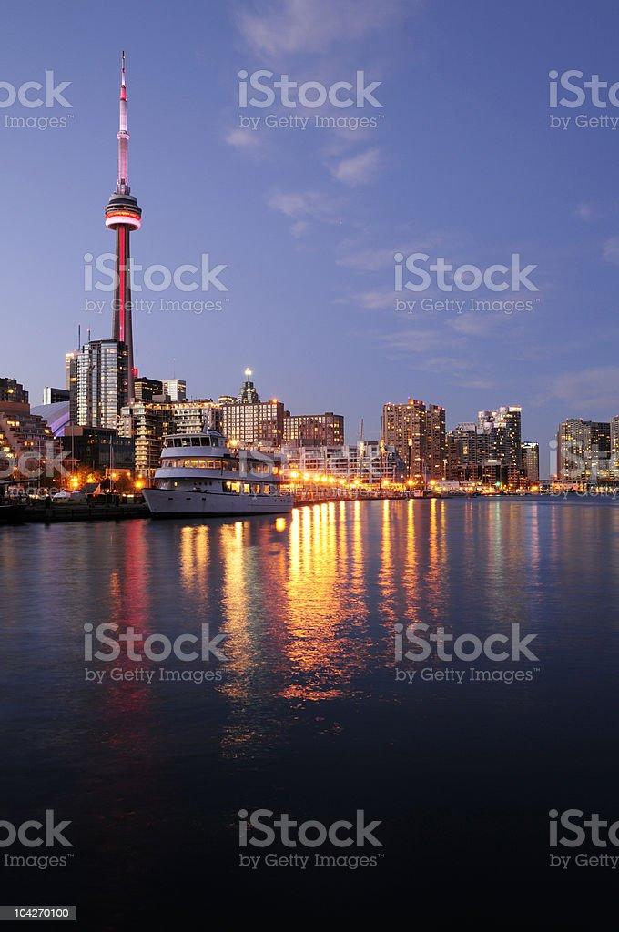 Toronto & Lake Ontario royalty-free stock photo