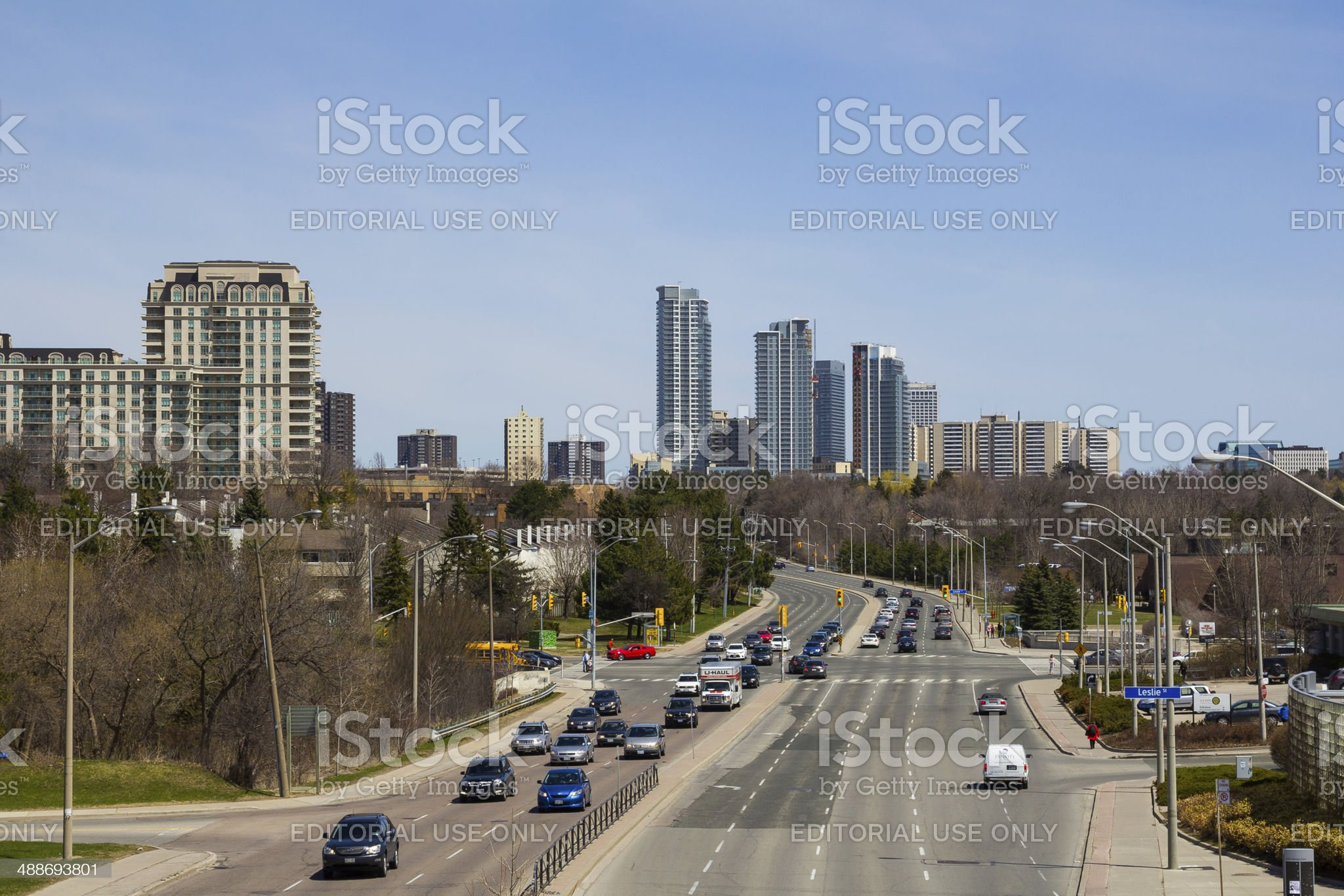 Toronto and Condos royalty-free stock photo