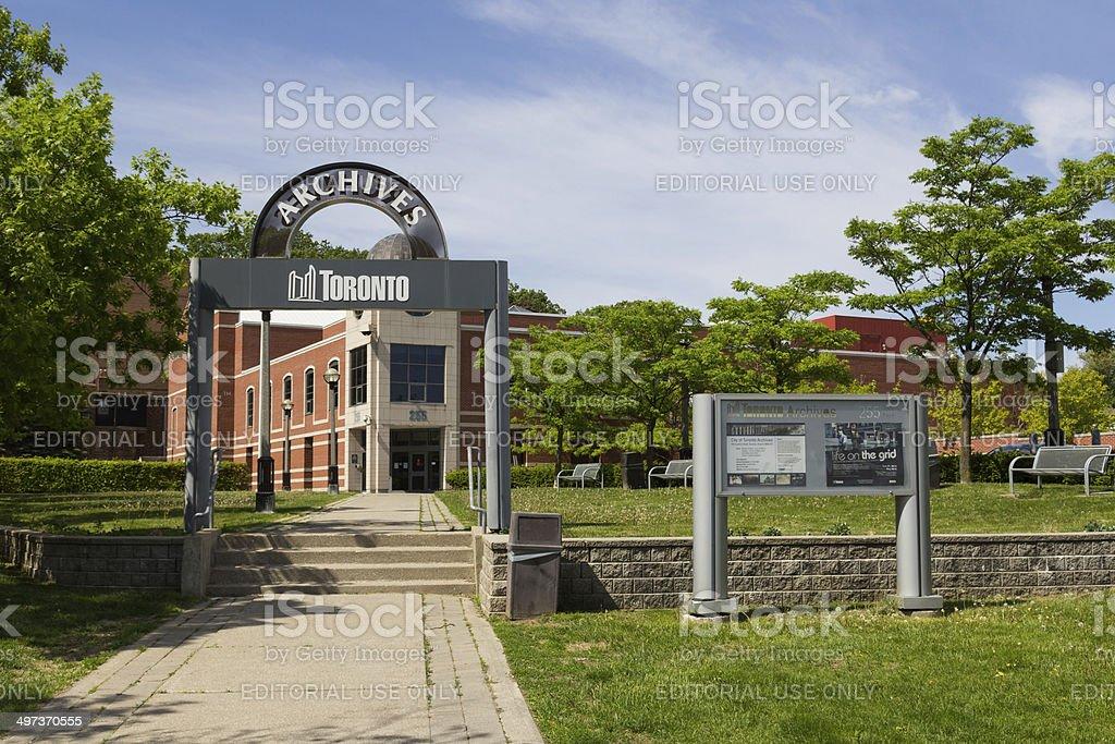 Toronto Archives stock photo