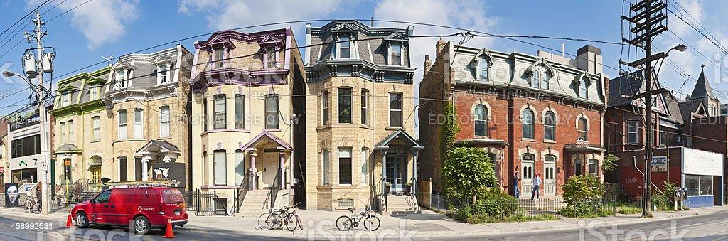 Toronto art galleries and villas of Dundas Street stock photo