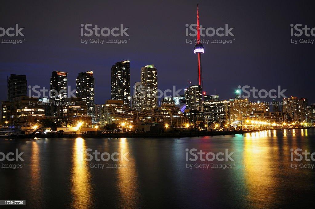 Toronto at night royalty-free stock photo