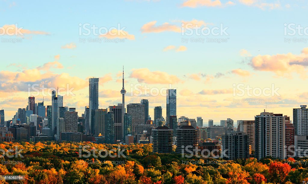 Toronto Autumn Skyline stock photo