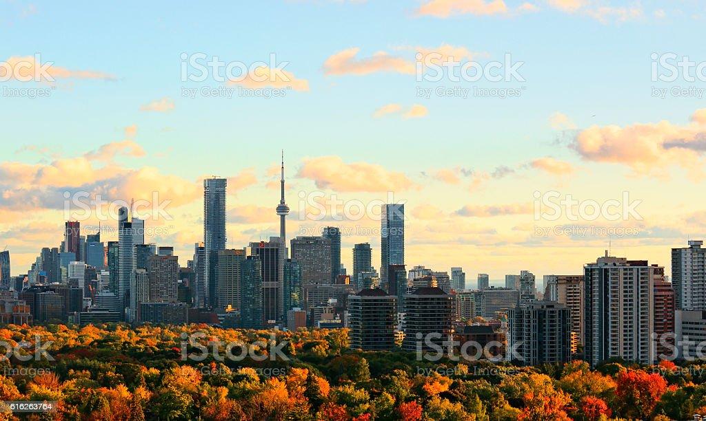 Toronto Autumn Skyline stock photo