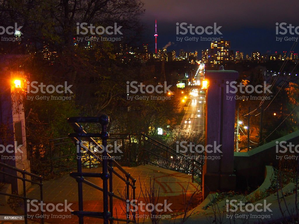 Toronto Baldwyn Steps stock photo