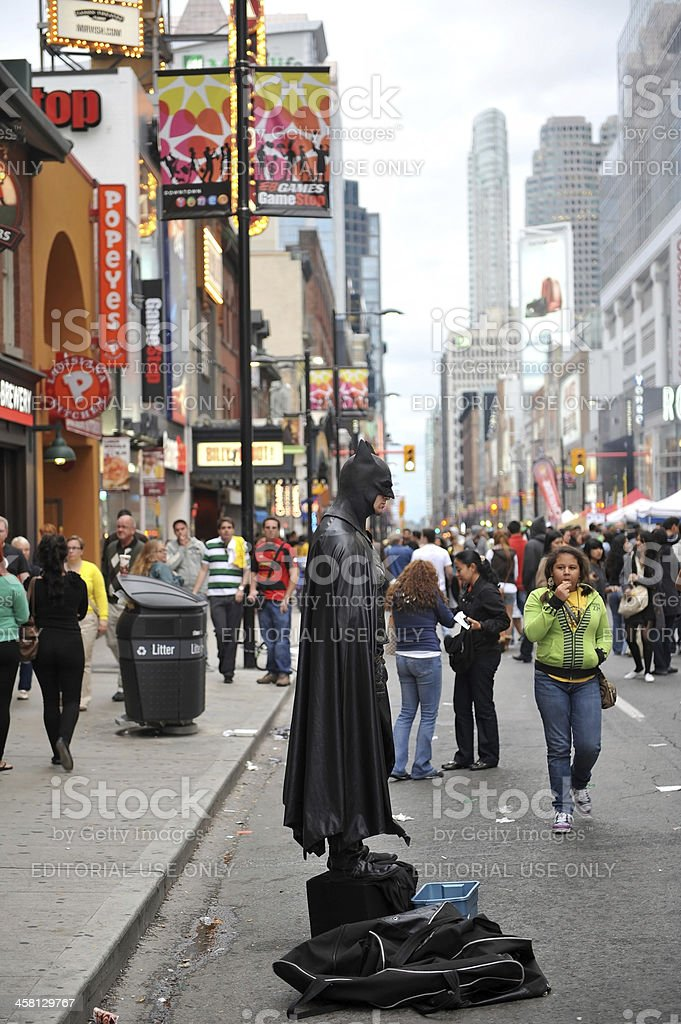 Toronto Batman stock photo
