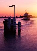 Toronto bay at sunset
