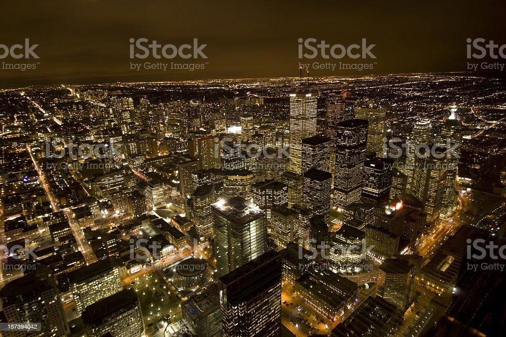 Toronto by night royalty-free stock photo