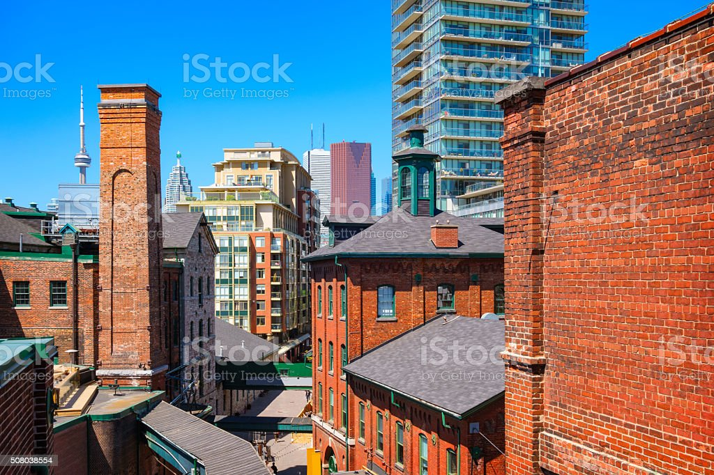 Toronto Canada Distillery District stock photo